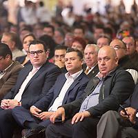 TOLUCA, Mexico.- Javier Garcia Beltrán durante el acto de adhesión de Sindicatos y organizaciones a la Confederación Revolucionaria Obrero Campesina (CROC). Agencia MVT / Mario Vazquez de la Torre.