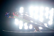 South Korea, PyeongChang - 2018 February 17: Kamil Stoch from Poland soars through the air while Men's Large Hill Individual Final during The 2018 PyeongChang Olympic Winter Games at Alpensia Ski Jumping Centre on February 17, 2018 in PyeongChang, South Korea.<br /> <br /> Mandatory credit:<br /> Photo by &copy; Adam Nurkiewicz<br /> <br /> Adam Nurkiewicz declares that he has no rights to the image of people at the photographs of his authorship.<br /> <br /> Picture also available in RAW (NEF) or TIFF format on special request.<br /> <br /> Any editorial, commercial or promotional use requires written permission from the author of image.