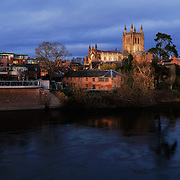 Hereford panoramic city skyline