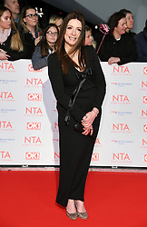 Katheryn Dow attending the National Television Awards 2018 held at the O2, London. Photo credit should read: Doug Peters/EMPICS Entertainment