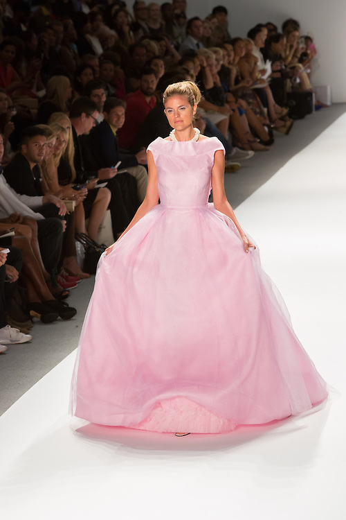Long pink gown. By Zang Toi, shown at his Spring 20132 Fashion Week show in New York.