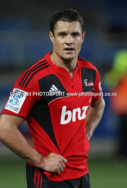 Dan Carter during the Super 15 match, Blues v Crusaders at Eden Park, Auckland, New Zealand. Investec Super 15 Rugby Union. Saturday 19 February 2011. Photo: Andrew Cornaga/PHOTOSPORT