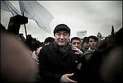 "Thousands of opposition protesters have gathered in Tbilisi, Georgia on 06 January, 2008, alleging vote-rigging. Opposition leader Levan Gachechiladze (pictured)- the most prominent of the five other presidential candidates told the crowd in Tbilisi: ""We face terror and will defend our vote by legal means."" Early results suggest President Mikhail Saakashvili won, but it is unclear if he did well enough to avoid a run-off. But opposition leader Levan Gachechiladze said the exit polls had been ""falsified"". They suggested President Saakashvili won more than 53% of the vote and Mr Gachechiladze 28%."