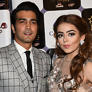 Shehzad Sheikh and presenter arrives at the Annual International Pakistan Prestige Awards (IPPA) at Indigo at The O2 on 9th September 2018, London, UK.