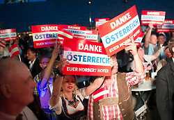 22.05.2016, Prater Alpendorf, Wien, AUT, FPÖ, Wahlfeier nach Stichwahl der Präsidentschaftswahl 2016, im Bild Unterstützer // supporter during the after election party of the austrian freedom party due to the austrian presidential elections at Prater in Vienna, Austria on 2016/05/22, EXPA Pictures © 2016, PhotoCredit: EXPA/ Michael Gruber