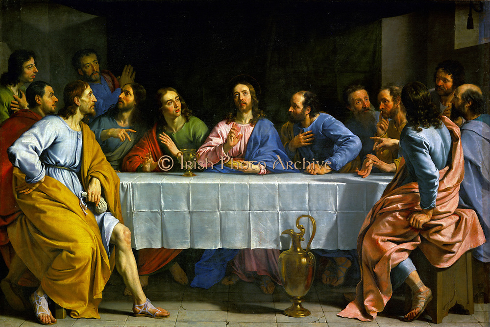 'The Last Supper' by Philippe de Champaigne (1602-1674) French painter