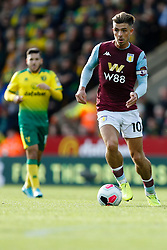 Jack Grealish of Aston Villa - Mandatory by-line: Phil Chaplin/JMP - 05/10/2019 - FOOTBALL - Carrow Road - Norwich, England - Norwich City v Aston Villa - Premier League