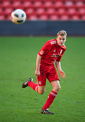 LIVERPOOL, ENGLAND - Saturday, January 8, 2011: Liverpool's Craig Roddan in action against Crystal Palace during the FA Youth Cup 4th Round match at Anfield. (Pic by: David Rawcliffe/Propaganda)