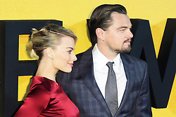 © Licensed to London News Pictures. 09/01/2014, UK. Margot Robbie; Leonardo DiCaprio, The Wolf of Wall Street - UK film premiere, Odeon Leicester Square, London UK, 09 January 2014. Photo credit : Richard Goldschmidt/Piqtured/LNP