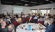 ERHVERV: Jan Ryberg Christensen (Café Chaplin) taler ved FC Helsingør Netværksmøde på Comwell Borupgaard i Snekkersten den 13. juni 2017. Foto: Claus Birch