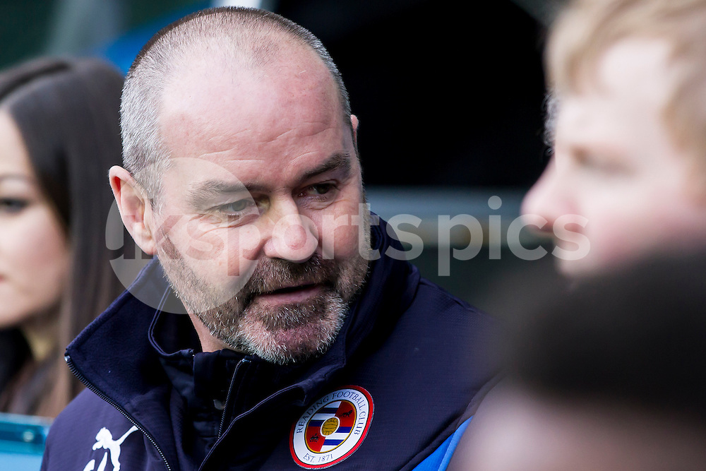 Reading manager Steve Clarke during the Sky Bet Championship match between Reading and Middlesbrough at the Madejski Stadium, Reading, England on 10 January 2015. Photo by Gareth  Brown.