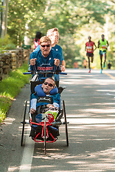 Falmouth Road Race Dick and Rick Hoyt, disabled team