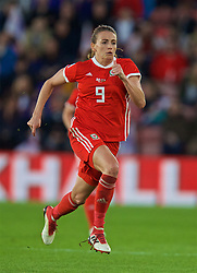SOUTHAMPTON, ENGLAND - Friday, April 6, 2018: Wales' Kayleigh Green during the FIFA Women's World Cup 2019 Qualifying Round Group 1 match between England and Wales at St. Mary's Stadium. (Pic by David Rawcliffe/Propaganda)