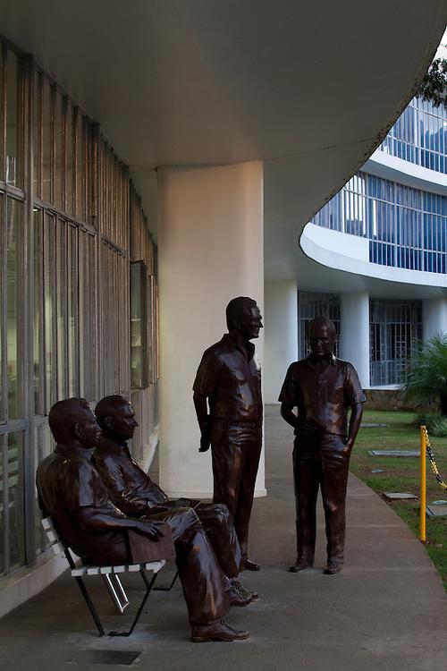 Belo Horizonte_MG, Brasil.<br /> <br /> Biblioteca estadual Luiz de Bessa em Belo Horizonte, Minas Gerais.<br /> <br /> The State library Luiz de Bessa in Belo Horizonte, Minas Gerais.<br /> <br /> Foto: LEO DRUMOND / NITRO