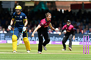 Wicket - Tom Abell of Somerset celebrates taking the wicket of Sam Northeast of Hampshire during the Royal London 1 Day Cup Final match between Somerset County Cricket Club and Hampshire County Cricket Club at Lord's Cricket Ground, St John's Wood, United Kingdom on 25 May 2019.