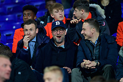 BIRKENHEAD, ENGLAND - Monday, March 13, 2017: Liverpool's manager Jürgen Klopp watches the Under-23's take on Chelsea with first-team development coach Pepijn Lijnders during the Under-23 FA Premier League 2 Division 1 match at Prenton Park. (Pic by David Rawcliffe/Propaganda)