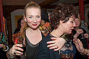 JUDITH OWEN AND HER CO-STAR  RUBY WAXGala performance of  RUBY WAX- LOSING IT  in aid of  Comic Relief. Menier Theatre. London. 23 February 2011. -DO NOT ARCHIVE-© Copyright Photograph by Dafydd Jones. 248 Clapham Rd. London SW9 0PZ. Tel 0207 820 0771. www.dafjones.com.