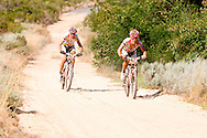 GREYTON, SOUTH AFRICA - Christoph Sauser and Burry Stander during stage five , 5 , of the Absa Cape Epic Mountain Bike Stage Race held between Greyton and Oak Valley ( Elgin / Grabouw ) on the 26 March 2009 in the Western Cape, South Africa..Photo by Nick Muzik  /SPORTZPICS