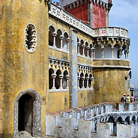 Pena National Palace Queen&rsquo;s Terrace in Sintra, Portugal<br />