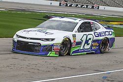 April 6, 2018 - Fort Worth, TX, U.S. - FORT WORTH, TX - APRIL 06: Monster Energy NASCAR Cup Series driver Ty Dillon (13) drives down pit road during practice for the O'Reilly Auto Parts 500 on April 6, 2018 at Texas Motor Speedway in Fort Worth, Texas.  (Photo by George Walker/Icon Sportswire) (Credit Image: © George Walker/Icon SMI via ZUMA Press)