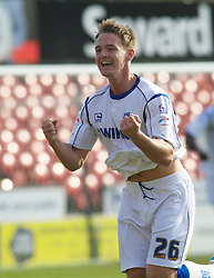 BOURNEMOUTH, ENGLAND - Saturday, April 9, 2011: Tranmere Rovers'  Adam McGurk leaves it late to as his goal makes it 2-1 deep in to injury time to win the match against Bournemouth during the Football League One match at the Dean Court Stadium. (Photo by Gareth Davies/Propaganda)