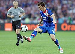 10-06-2012 VOETBAL: UEFA EURO 2012 DAY 3: POLEN OEKRAINE<br /> Match between Croatia and Ireland, group C. Poznan, Poland - Euro 2012 Championship / Ivan Perisic<br /> ***NETHERLANDS ONLY***<br /> ©2012-FotoHoogendoorn.nl
