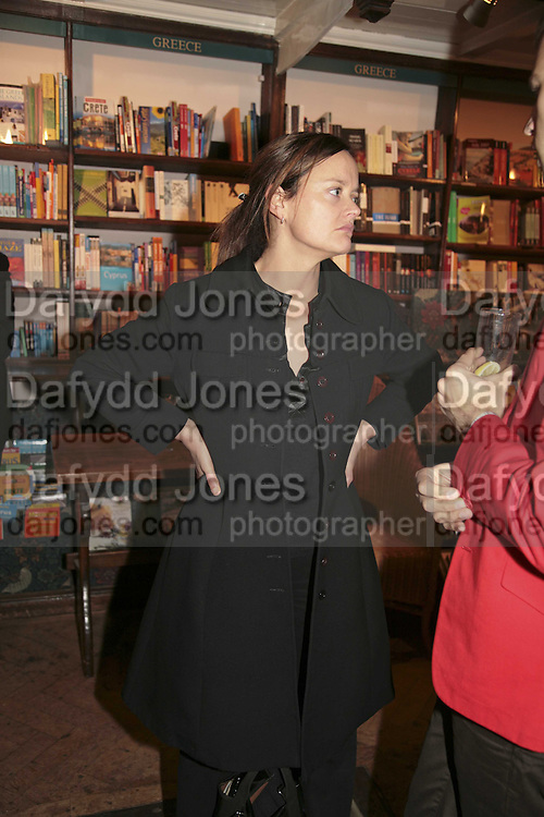 Emma Reeves, Book launch of Pretty Things by Liz Goldwyn at Daunt <br />