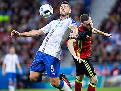 13-06-2016 FRA: UEFA EURO Belgie - Italie, Lyon<br /> België verliest met 2-0 van Italie / Graziano Pelle (Wlochy), Thomas Vermaelen (Belgia)<br /> <br /> ***NETHERLANDS ONLY***