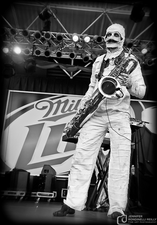 Here Come the Mummies live at Summerfest on 7/7/11 in Milwaukee, Wi. Photo © 2011 Jennifer Rondinelli Reilly. All rights reserved.  No use without permission. Contact me for any reuse or licensing inquires.