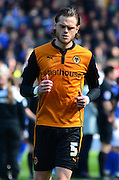 Richard Stearman during the Sky Bet Championship match between Birmingham City and Wolverhampton Wanderers at St Andrews, Birmingham, England on 11 April 2015. Photo by Alan Franklin.