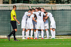Players of NK Rudar Velenje celebrates during football match between NS Mura and NK Rudar Velenje in 13th Round of Prva liga Telekom Slovenije 2018/19, on October 20, 2018 in Mestni stadion Fazanerija, Murska Sobota , Slovenia. Photo by Mario Horvat / Sportida