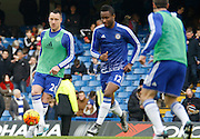 Chelsea defender John Terry warming up before the Barclays Premier League match between Chelsea and Everton at Stamford Bridge, London, England on 16 January 2016. Photo by Andy Walter.