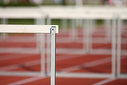 Hurdles at Athletic National Championship of Slovenia, on July 19, 2008, in Stadium Poljane, Maribor, Slovenia. (Photo by Vid Ponikvar / Sportal Images).
