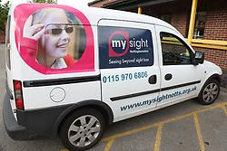 Mysight van - visually impaired girl image and brand