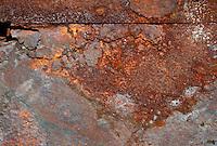Long Island, New York, Shinnecock Harbor. Rusting metal.