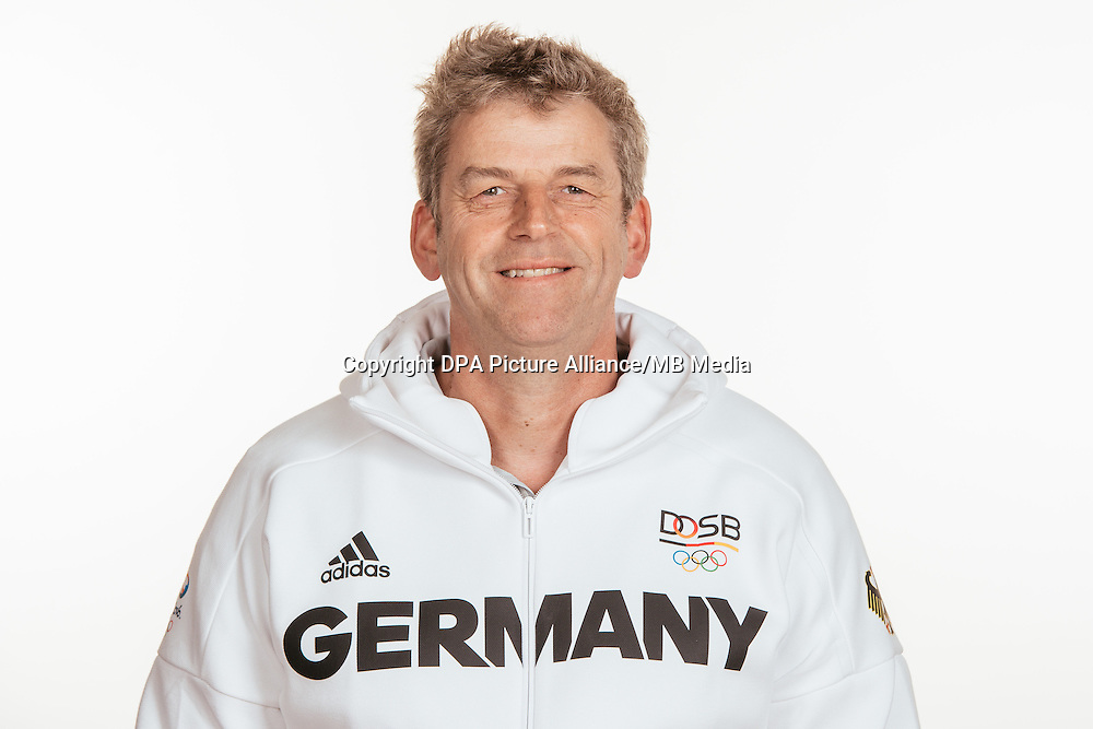 Ulrich Kau poses at a photocall during the preparations for the Olympic Games in Rio at the Emmich Cambrai Barracks in Hanover, Germany, taken on 15/07/16 | usage worldwide