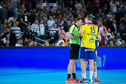 Vid Poteko of RK Celje Pivovarna Lasko during EHF Champions eague 2016/17 handball match between HC Prvo Plinarsko Drustvo Zagreb and RK Celje Pivovarna Lasko, on March 9th, 2017 in Arena Zagreb, Croatia. Photo by Martin Metelko / Sportida