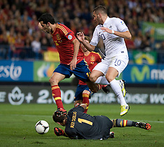 OCT 16 2012 France Vs Spain - 2014 World Cup Qualifier