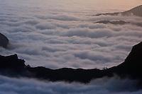 View from Pico do Areiro, Madeira, March 2009.