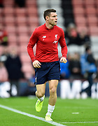 James Milner (7) of Liverpool during the warm up ahead of the Premier League match between Bournemouth and Liverpool at the Vitality Stadium, Bournemouth, England on 7 December 2019.