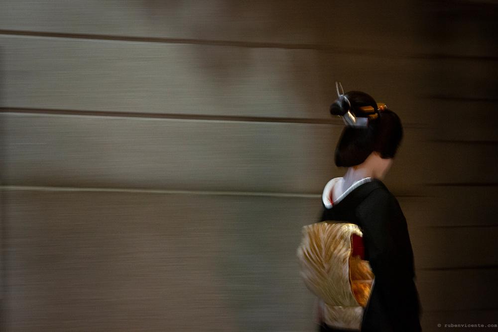 Geisha in Gion. Kyoto, Japan