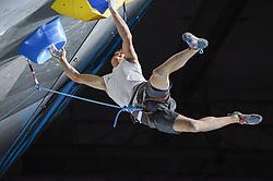 09.09.2018, Kletterzentrum, Innsbruck, AUT, IFSC, Kletter WM Innsbruck 2018, Halbfinale, Herren, Vorstieg, im Bild Luka Potocar (SLO) // Luka Potocar of Slovenia during Semi-Finals of Men Lead for the IFSC Climbing World Championships 2018 at the Kletterzentrum in Innsbruck, Austria on 2018/09/09. EXPA Pictures © 2018, PhotoCredit: EXPA/ Erich Spiess