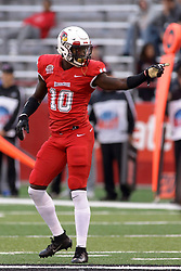NORMAL, IL - September 08: Malachi Broadnax during 107th Mid-America Classic college football game between the ISU (Illinois State University) Redbirds and the Eastern Illinois Panthers on September 08 2018 at Hancock Stadium in Normal, IL. (Photo by Alan Look)