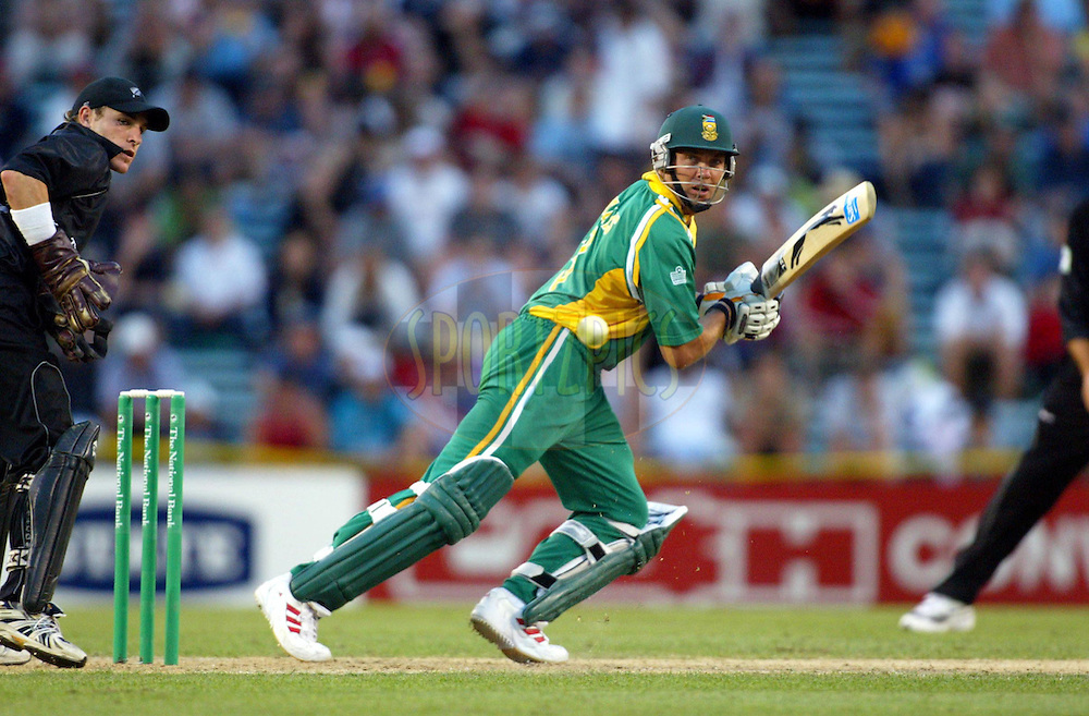13 February 2004, International one day cricket, Eden Park, Auckland, New Zealand. Match 1 in series of 6, New Zealand vs South Africa..Jacques Kallis..Pic: Andrew Cornaga/Photosport