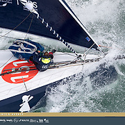 Banque Image en Hélcicoptère en vue de la préparation de la Jacque Vabre 2017