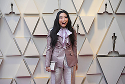 ebruary 24, 2019 - Los Angeles, California, U.S - 'Crazy Rich Asian' actress AWKWAFINA, wearing a DSquared suit, during red carpet arrivals for the 91st Academy Awards, presented by the Academy of Motion Picture Arts and Sciences (AMPAS), at the Dolby Theatre in Hollywood. (Credit Image: © Kevin Sullivan via ZUMA Wire)