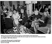 Room scene on right hand side L.A. hostess Connie Wald & Joely Richardson during a party hosted by Billy McCarty-Cooper for Jean Howard's Hollywood book. Los Angeles. 1989. Film.89326/14<br /> <br /> © Copyright Photograph by Dafydd Jones<br /> 66 Stockwell Park Rd. London SW9 0DA<br /> Tel 0171 733 0108