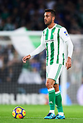SEVILLE, SPAIN - NOVEMBER 03:  Victor Camarasa of Real Betis Balompie in action during the La Liga match between Real Betis and Getafe at Estadio Benito Villamarin  on November 3, 2017 in Seville, .  (Photo by Aitor Alcalde Colomer/Getty Images)