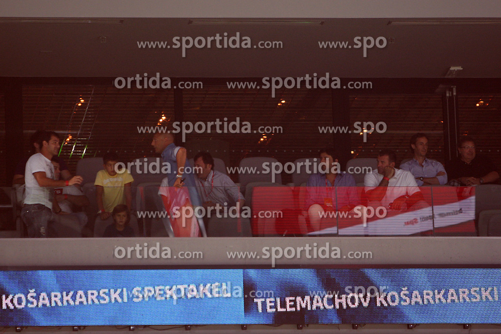 VIP at friendly match between Serbia and Macedonia for Adecco Cup 2011 as part of exhibition games before European Championship Lithuania on August 7, 2011, in SRC Stozice, Ljubljana, Slovenia. (Photo by Urban Urbanc / Sportida)