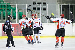 Players of HK SZ Jesenice celebrate during ice hockey match between HK SZ Olimpija and HDD SIJ Acroni Jesenice in AHL - Alps Hockey League 2017/18, on October 25, 2017 in Hala Tivoli, Ljubljana, Slovenia. Photo by Matic Klansek Velej / Sportida